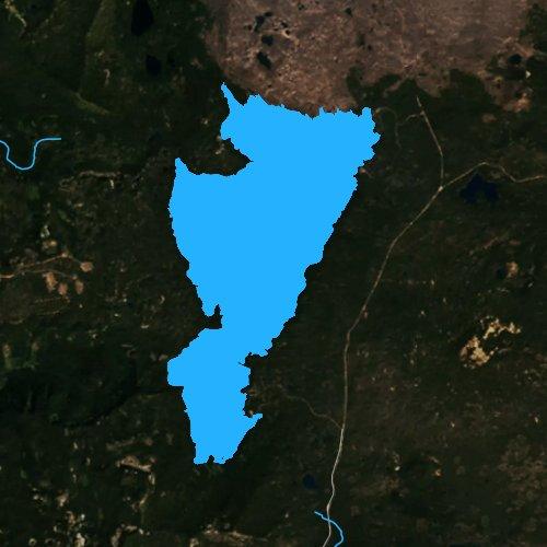 Fly fishing map for Waldo Lake, Oregon