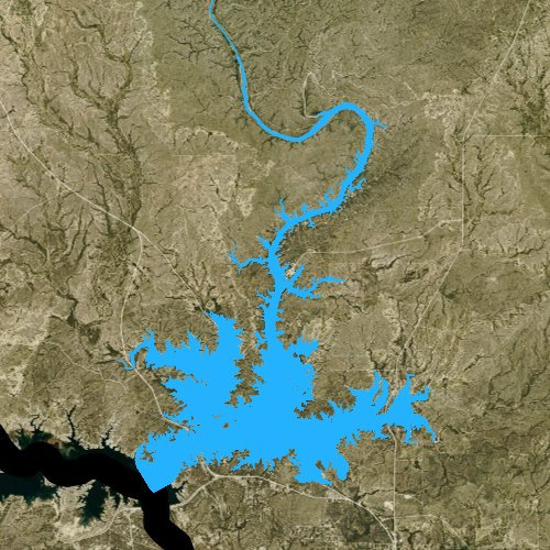 Fly fishing map for Walk Lake, Texas