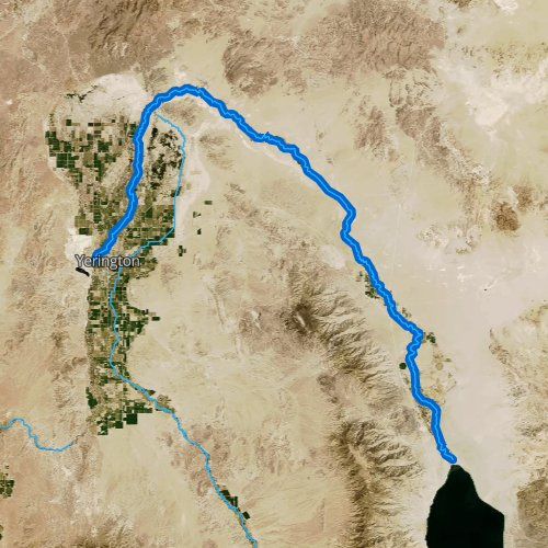 Fly fishing map for Walker River, Nevada