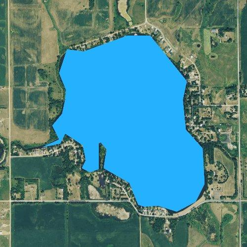 Fly fishing map for Wall Lake, South Dakota