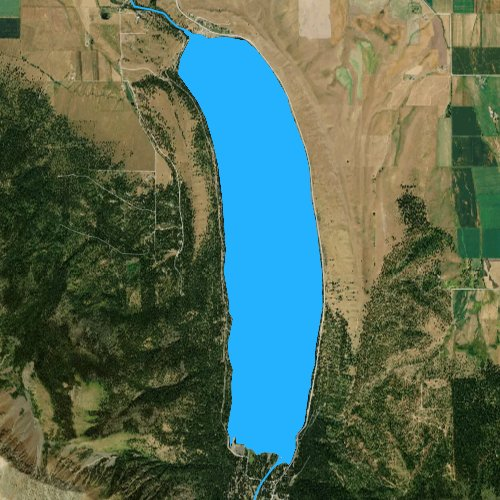 Fly fishing map for Wallowa Lake, Oregon
