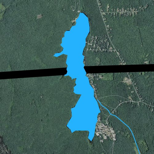 Fly fishing map for Wallum Lake, Rhode Island