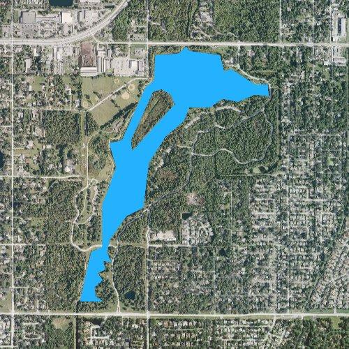 Fly fishing map for Walsingham Reservoir, Florida
