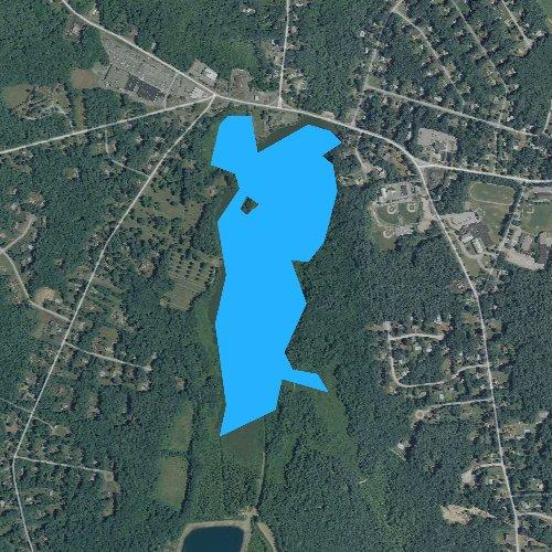 Fly fishing map for Wampatuck Pond, Massachusetts