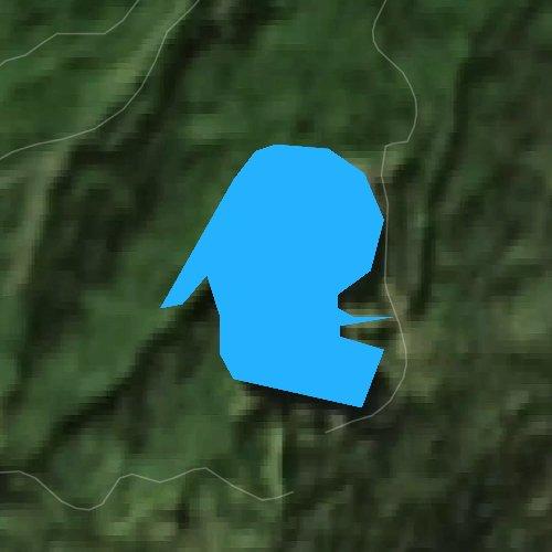 Fly fishing map for Ward Lake, Alaska