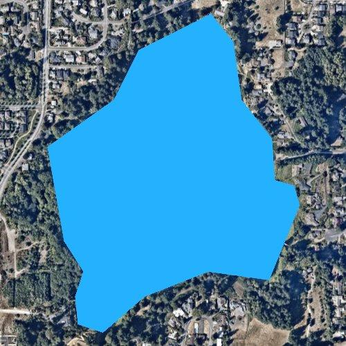 Fly fishing map for Ward Lake, Washington