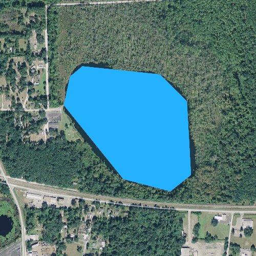 Fly fishing map for Watertown Lake, Florida
