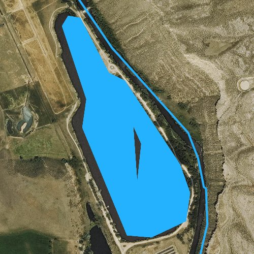 Fly fishing map for Watson Lake, Colorado