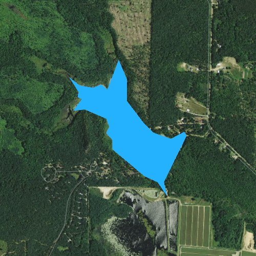 Fly fishing map for Wazeda Lake, Wisconsin
