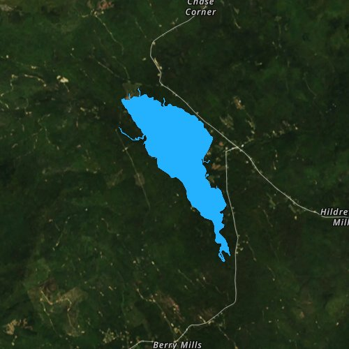 Fly fishing map for Webb Lake, Maine