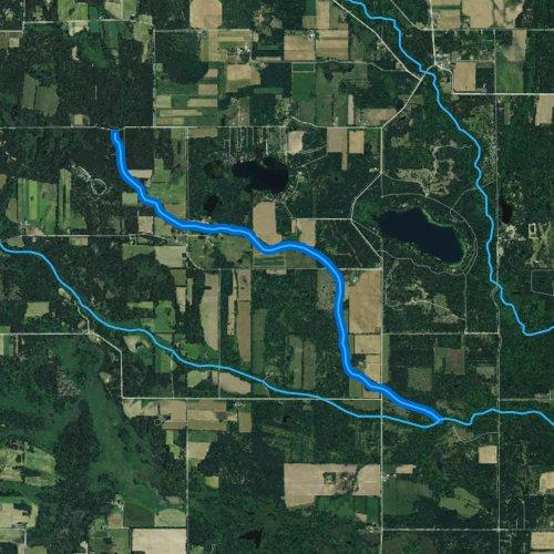 Fly fishing map for Wedde Creek, Wisconsin