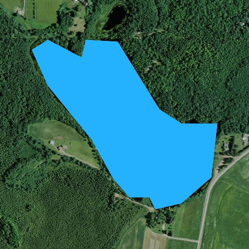 Fly fishing map for Wellington Lake, Wisconsin