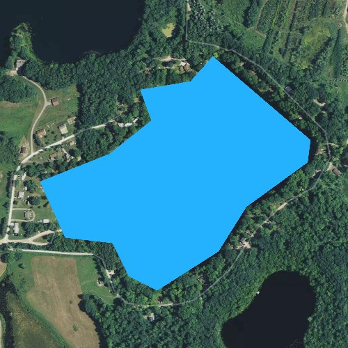 Fly fishing map for Wells Lake, Michigan