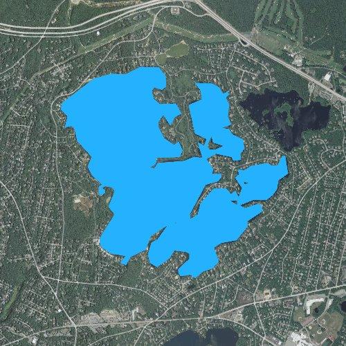Fly fishing map for Wequaquet Lake, Massachusetts