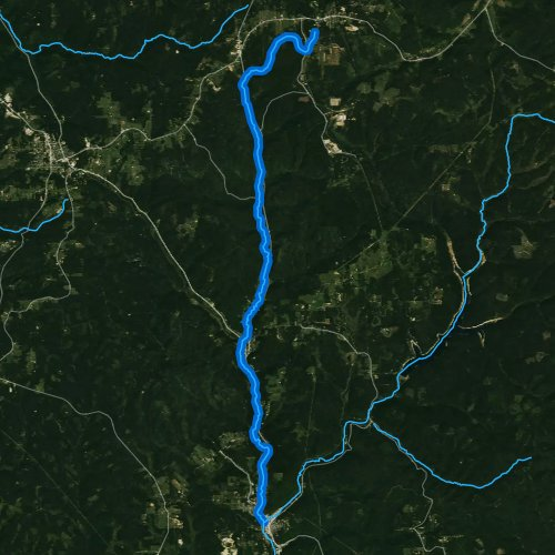 Fly fishing map for West Branch Clarion River, Pennsylvania