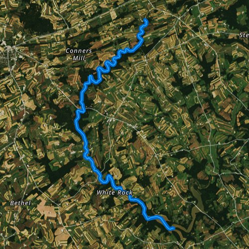 Fly fishing map for West Branch Octoraro Creek, Pennsylvania
