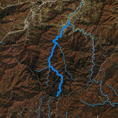 Fly fishing map for West Fork Pigeon River, North Carolina