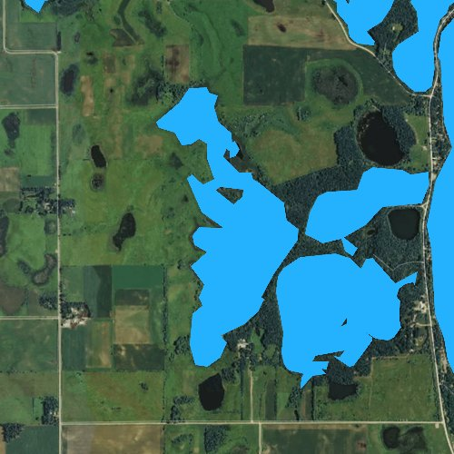 Fly fishing map for West Hottes Lake, Iowa