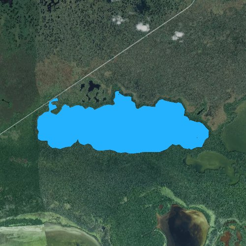 Fly fishing map for West Lake, Florida