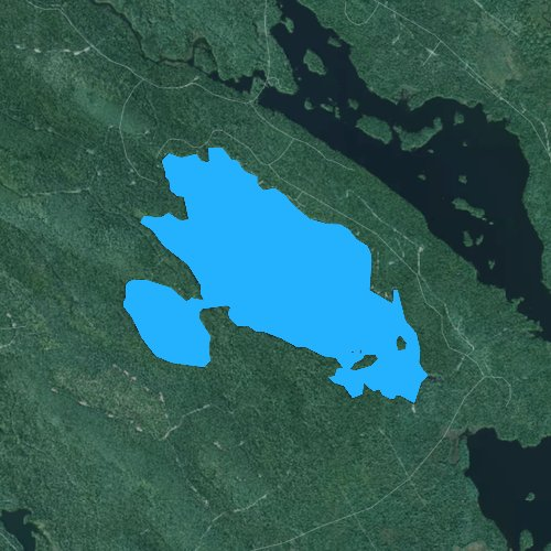 Fly fishing map for West Lake, Maine
