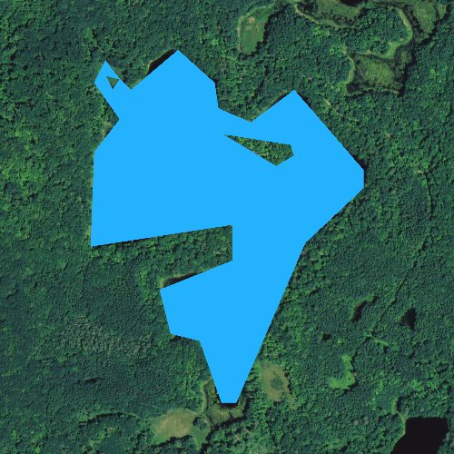 Fly fishing map for West Lake, Wisconsin