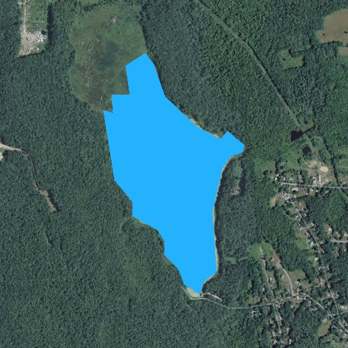 Fly fishing map for West Meadow Brook Pond, Massachusetts