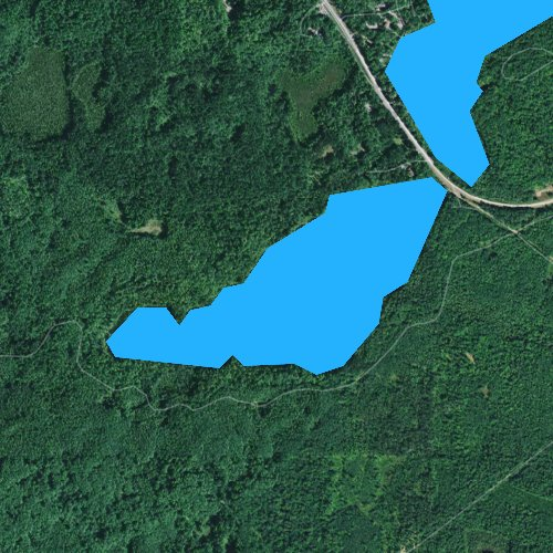 Fly fishing map for West Plum Lake, Wisconsin