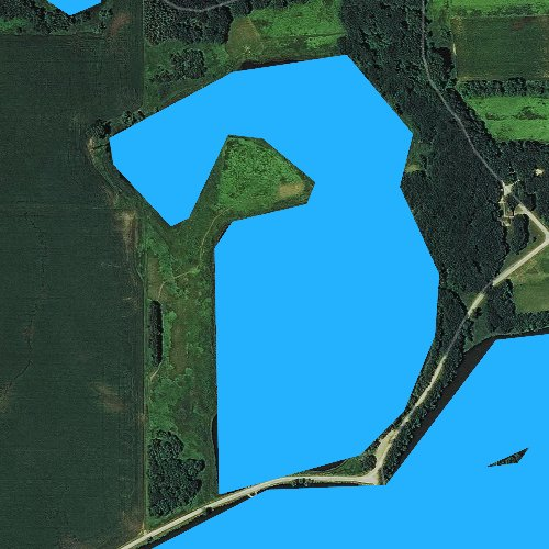 Fly fishing map for West Slough, Iowa