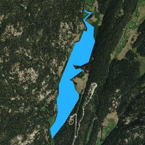 Fly fishing map for West Tensleep Lake, Wyoming