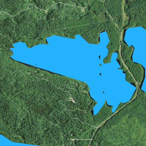 Fly fishing map for West Twin Lake, Minnesota