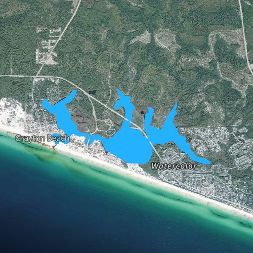 Fly fishing map for Western Lake, Florida