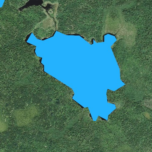 Fly fishing map for Western Lake, Minnesota