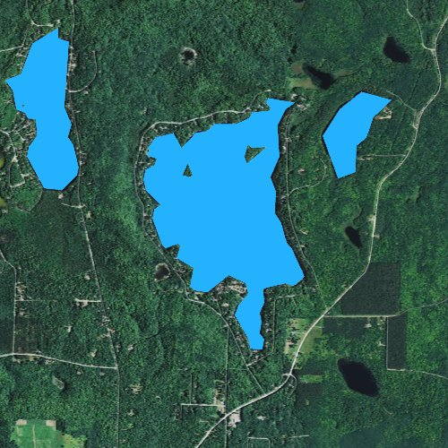 Fly fishing map for Wheeler Lake, Wisconsin