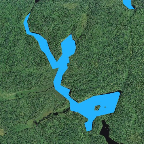 Fly fishing map for Whipped Lake, Minnesota