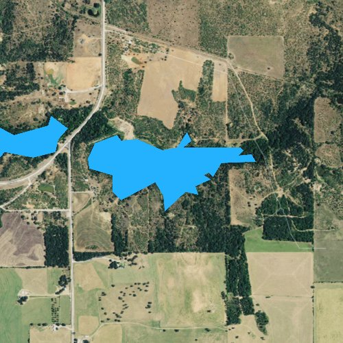 Fly fishing map for Whiskey Creek Reservoir, Texas