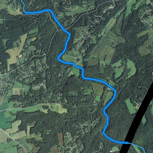 Fly fishing map for White Clay Creek, Pennsylvania