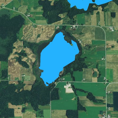 Fly fishing map for White Clay Lake, Wisconsin