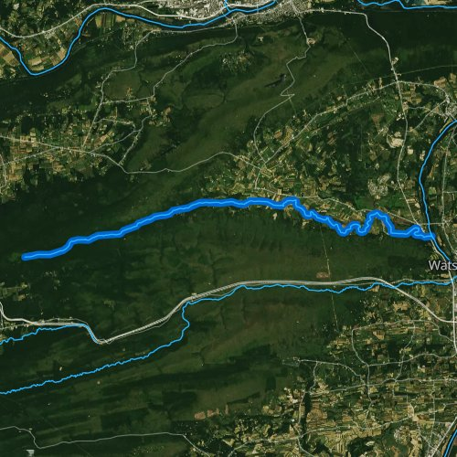 Fly fishing map for White Deer Hole Creek, Pennsylvania