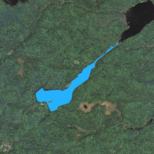 Fly fishing map for White Deer Lake, Michigan