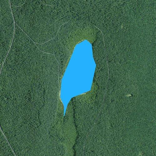 Fly fishing map for White Deer Lake, Pennsylvania