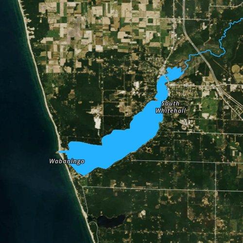 Fly fishing map for White Lake, Michigan