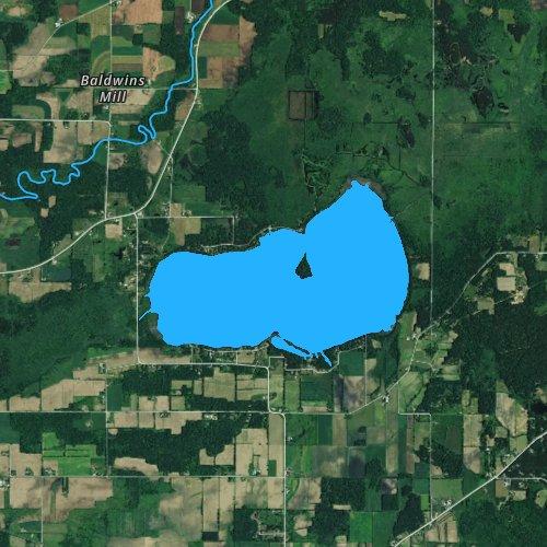 Fly fishing map for White Lake: Waupaca, Wisconsin
