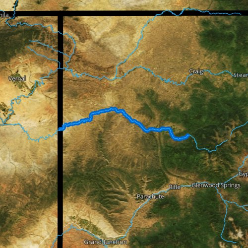 Fly fishing map for White River, Colorado