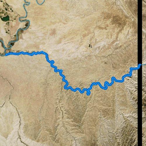 Fly fishing map for White River, Utah