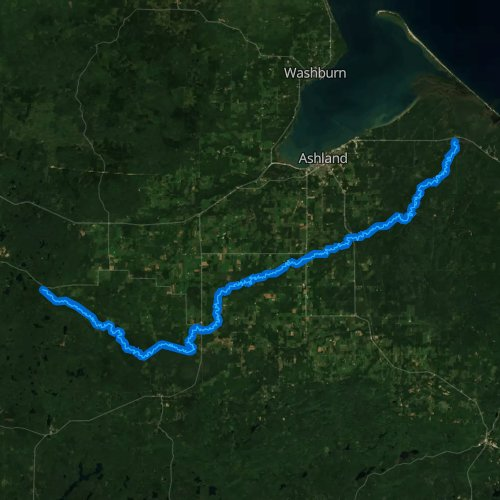 Fly fishing map for White River, Wisconsin