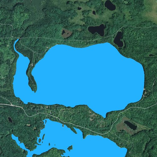Fly fishing map for White Sand Lake: Vilas, Wisconsin