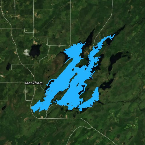 Fly fishing map for Whiteface Reservoir, Minnesota