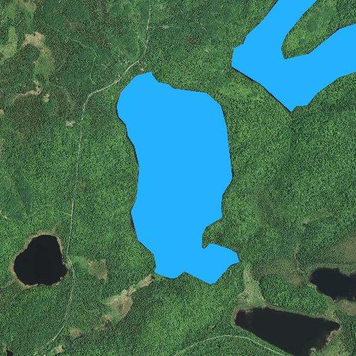 Fly fishing map for Whitefish Lake, Minnesota