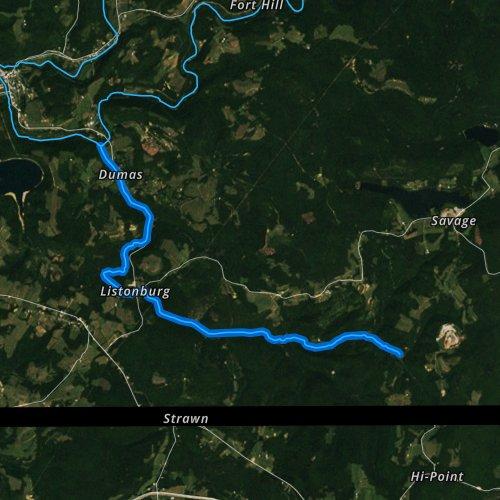 Fly fishing map for Whites Creek, Pennsylvania