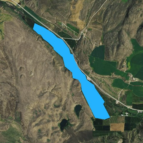 Fly fishing map for Whitestone Lake, Washington